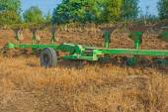 Set of plough on field — Stock Photo