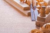 Woodworkers plane carpentry chisels — Stock Photo
