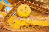 Part of bulldozer track — Stock Photo