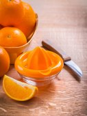 Squeezer for orange and fruits — Stock Photo