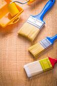 Three paint brushes — Stock Photo