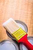 Paint brush with red handle — Stock Photo