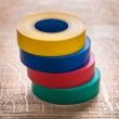 Stack of four rolls insulating tape — Stock Photo #71281715