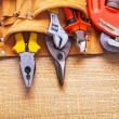Set of tools in tool belt — Stock Photo #72700217