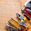 Set of tools on board — Stock Photo #72700453