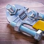 Adjustable key steel threaded bolts — Stock Photo #72715565