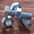 Stainless bolts and screw nuts — Stock Photo #72715751