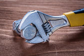 Adjustable spanner stainless bolt — Stock Photo