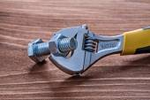 Adjustable spanner bolt and nut — Stock Photo
