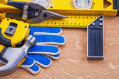 Collection of construction tools — Stock Photo