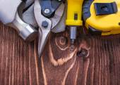 Claw hammer measuring tape — Stock Photo