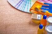 Collection of paint tools — Stock Photo