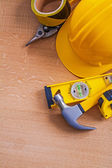 Composition of house improvement tools — Stock Photo