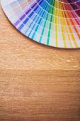 Multi colored pantone fan — Stock Photo