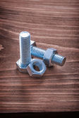 Stainless bolts and nuts — Stock Photo