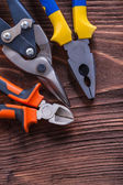 Pliers, nippers and wire-cutter — Stock Photo