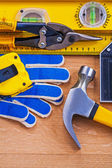 Collection of repairing objects tools — Stock Photo