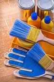Board with  paint tools — Stock Photo