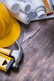 Set of construction working tools — Stock Photo