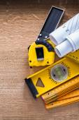 Set of construction, measuring  tools — Stock Photo