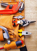 Tool belt with construction tools. — Stock Photo