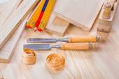 Woodworker, joinery tools set — Stock Photo