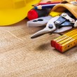 Construction tools in tool belt — Stock Photo #73634109