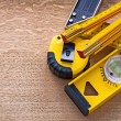 Yellow objects of measurement construction — Stock Photo #73635111