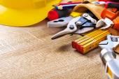 施工工具工具带 — 图库照片