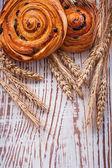 Fresh-baked raisin buns — Foto Stock