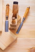 Old fashioned woodworkers chisels — Stock Photo