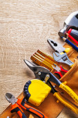 Toolbelt with construction tools — Stock Photo