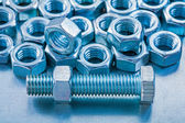 Stainless screw nuts and bolts — Stock Photo