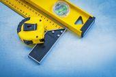 Yellow instruments of measurement — Stock Photo
