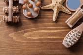 Массажеры деревянные на старинный Совет — Стоковое фото