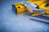 Claw hammer tape measure — Stock Photo