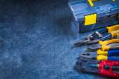 Toolbox, bolt cutter, pliers — Stock Photo