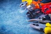 Bolt cutter, tin snips, pliers — Stock Photo