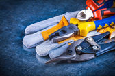 Safety gloves with nippers, pliers — Stock Photo