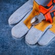 Protective gloves with nippers — Stock Photo #77385756