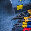 Toolbox, bolt cutter, pliers — Stock Photo #77421954