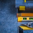 Toolbox and set of working tools — Stock Photo #78562612