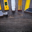 Composition of construction working tools — Stock Photo #78564646