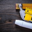 Composition of construction working tools — Stock Photo #78565380
