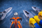 Tin snips, pliers and nippers — Stock Photo