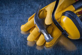 Composition of protective workwear — Stock Photo