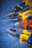 Set of tin snips, pliers, wire-cutter — Stock Photo