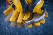 Collection of protective workwear — Stock Photo