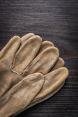 Leather working gloves — Stock Photo