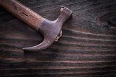 Rusty metal claw hammer — Stock Photo